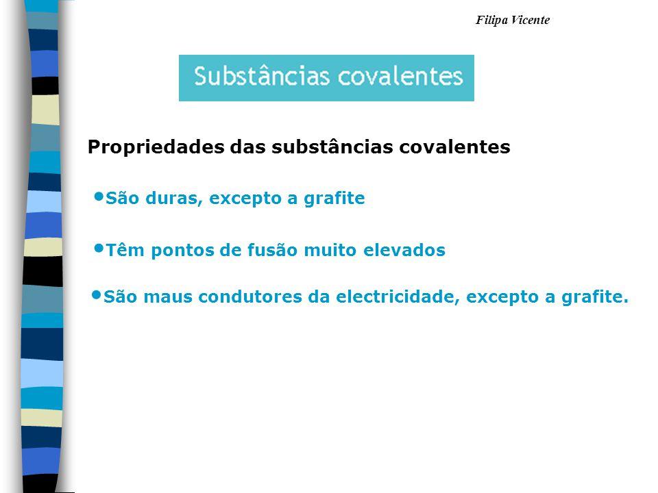 Propriedades das substâncias covalentes