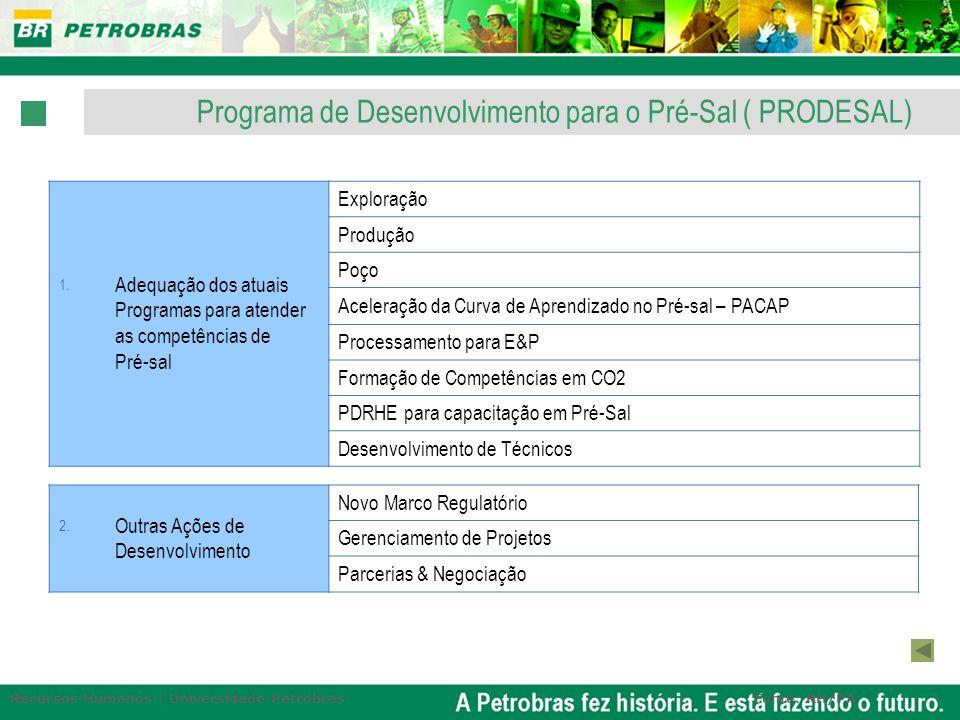 Programa de Desenvolvimento para o Pré-Sal ( PRODESAL)