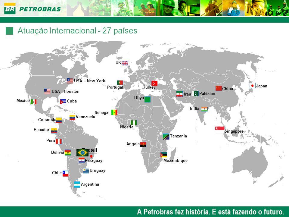 Atuação Internacional - 27 países