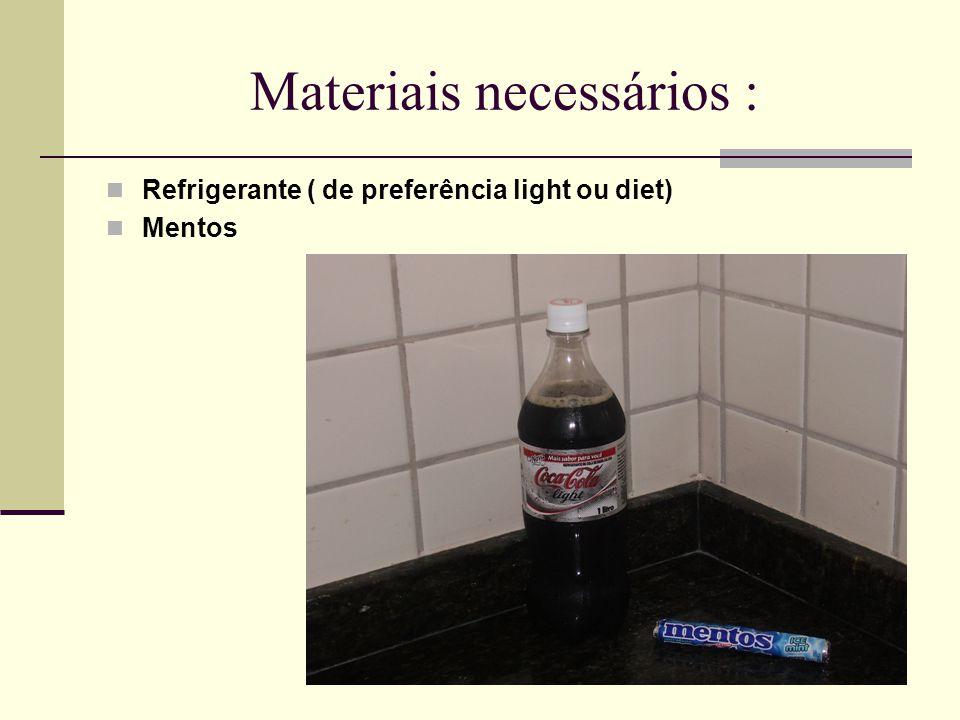 Materiais necessários :