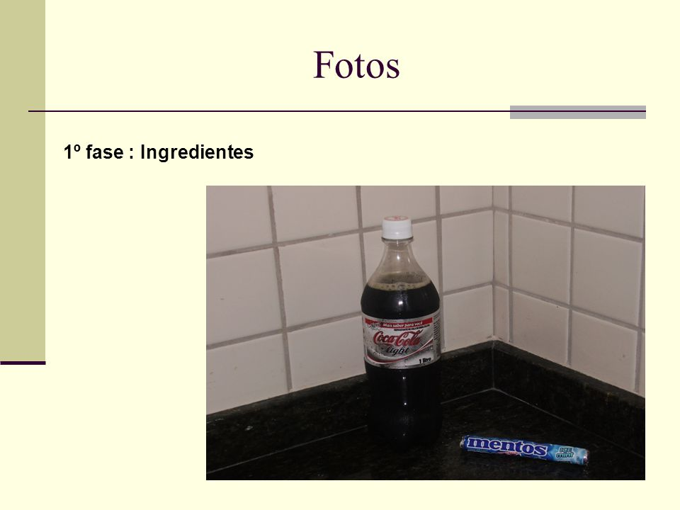 Fotos 1º fase : Ingredientes