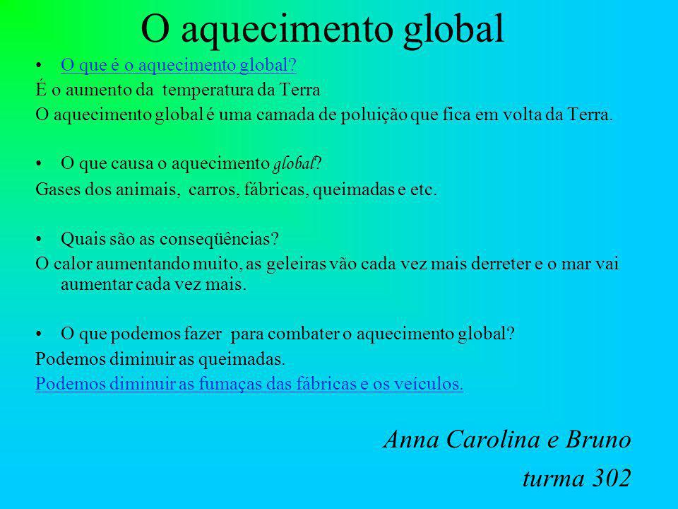 O aquecimento global Anna Carolina e Bruno turma 302
