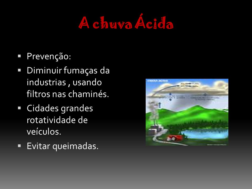 A chuva Ácida Prevenção: