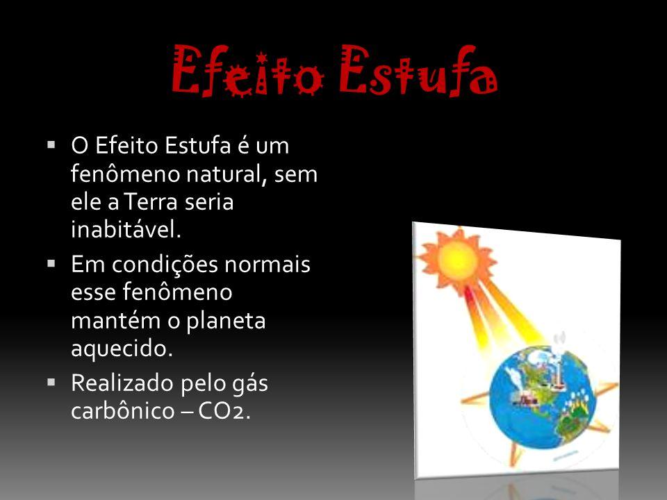 Efeito Estufa O Efeito Estufa é um fenômeno natural, sem ele a Terra seria inabitável.
