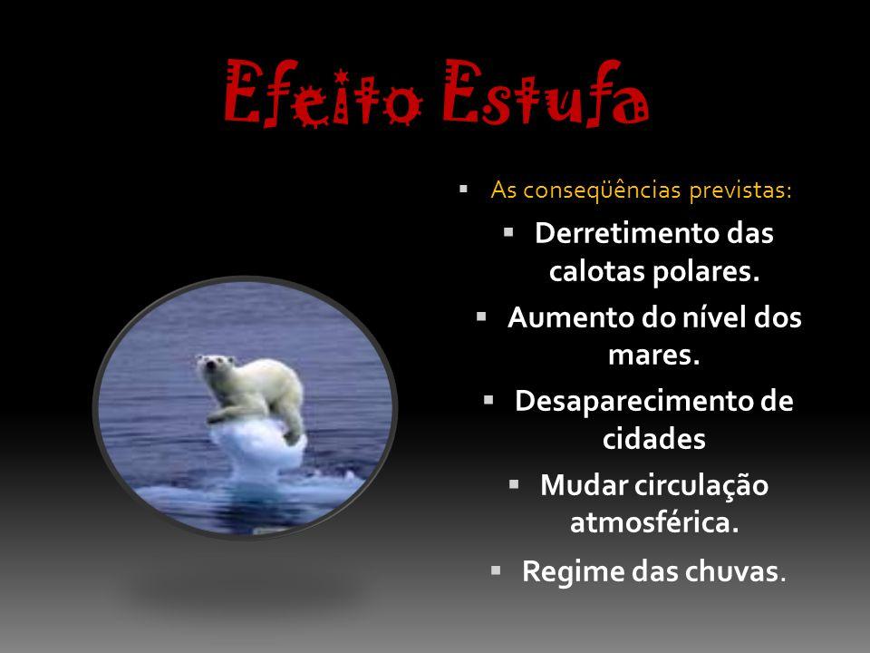 Efeito Estufa Derretimento das calotas polares.