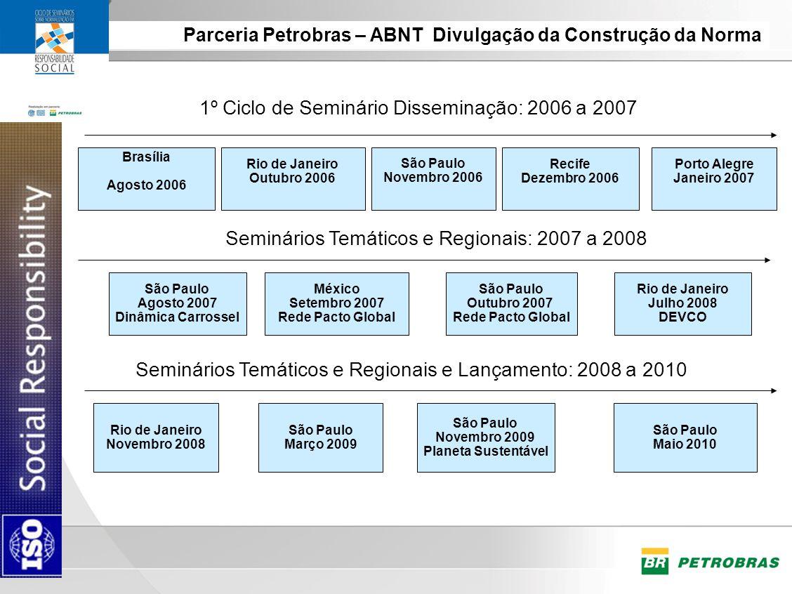 1º Ciclo de Seminário Disseminação: 2006 a 2007