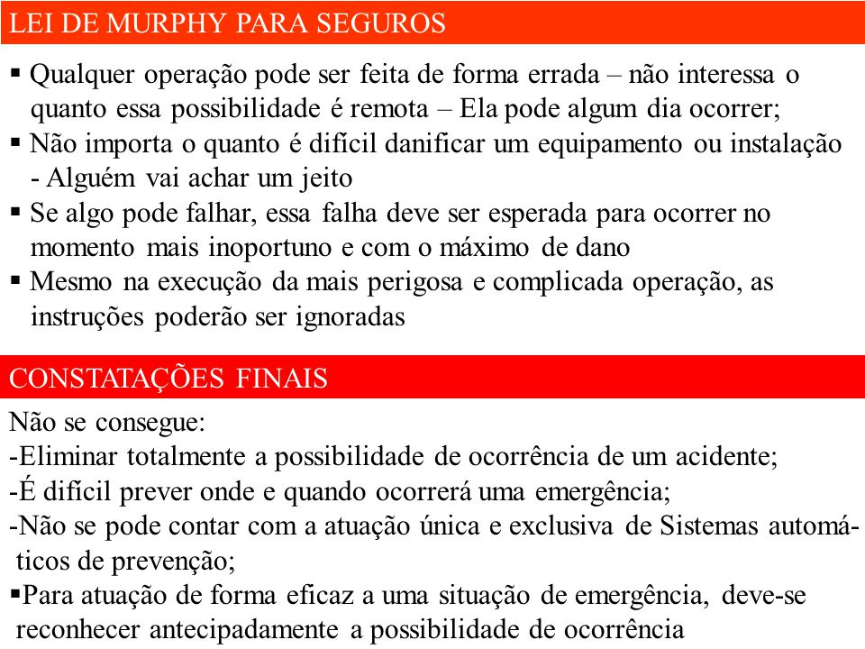 LEI DE MURPHY PARA SEGUROS