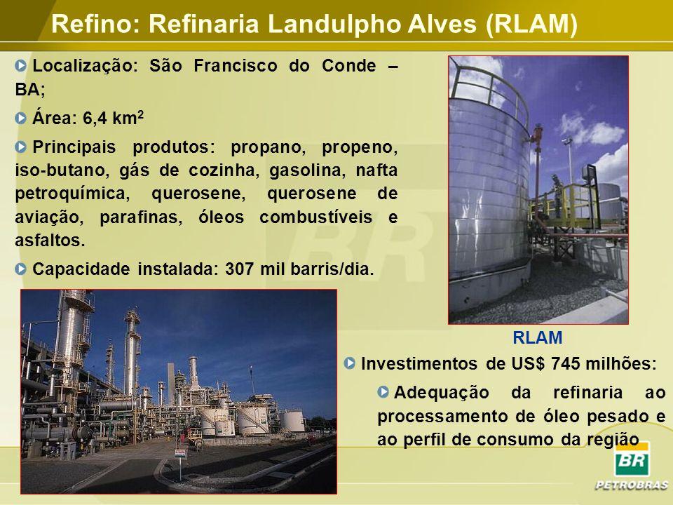 Refino: Refinaria Landulpho Alves (RLAM)