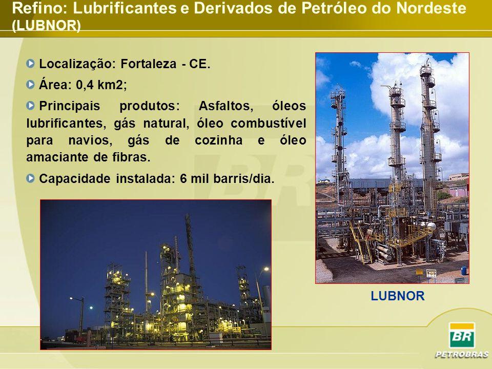 Refino: Lubrificantes e Derivados de Petróleo do Nordeste (LUBNOR)