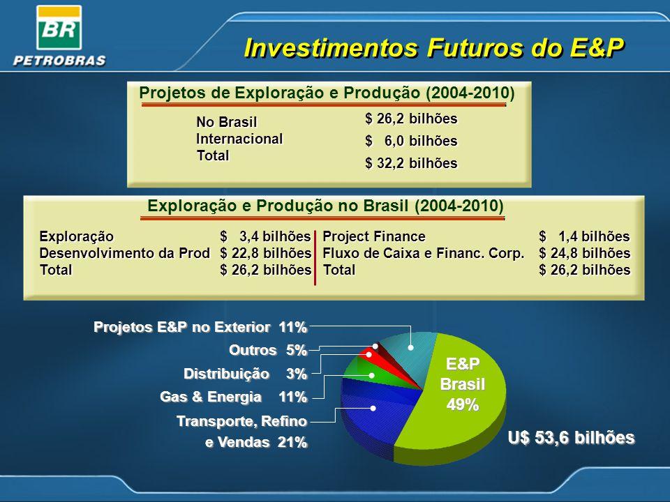 Investimentos Futuros do E&P
