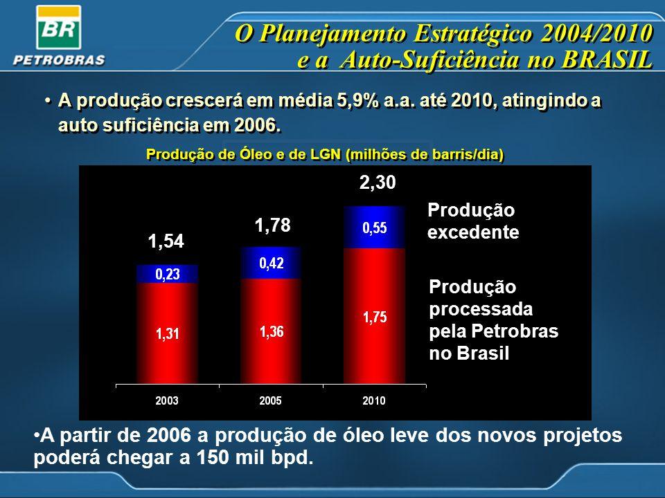 O Planejamento Estratégico 2004/2010 e a Auto-Suficiência no BRASIL