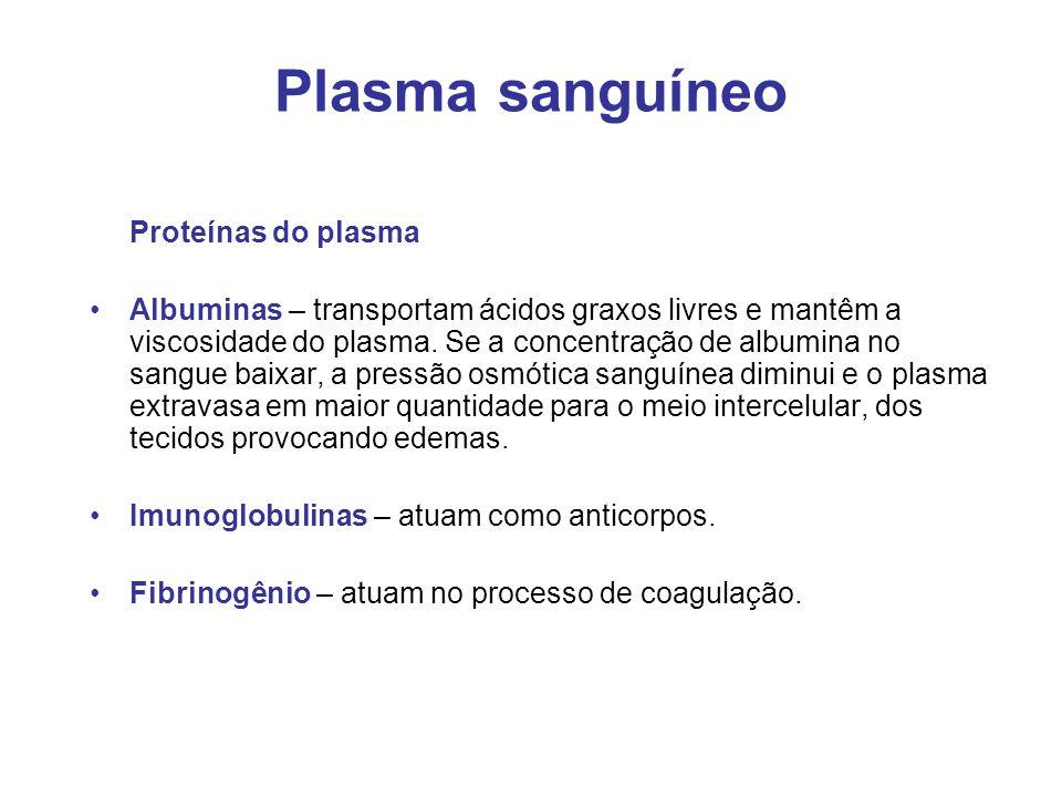 Plasma sanguíneo Proteínas do plasma