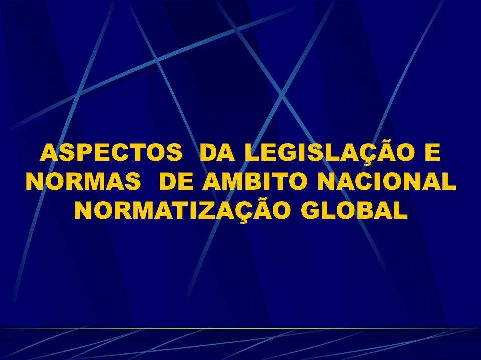 ASPECTOS DA LEGISLAÇÃO E NORMAS DE AMBITO NACIONAL