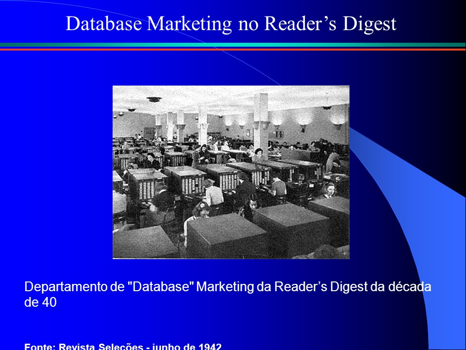 Database Marketing no Reader's Digest
