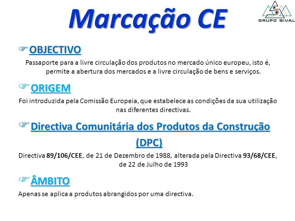 Marcação CE ORIGEM Directiva Comunitária dos Produtos da Construção