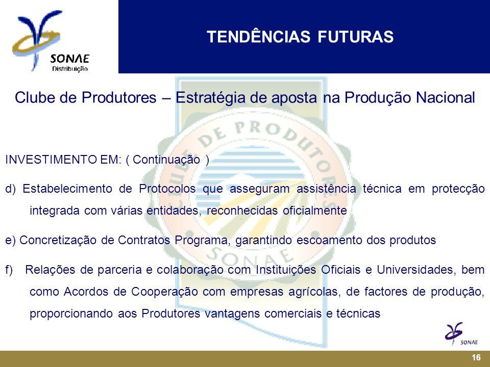 Clube de Produtores – Estratégia de aposta na Produção Nacional