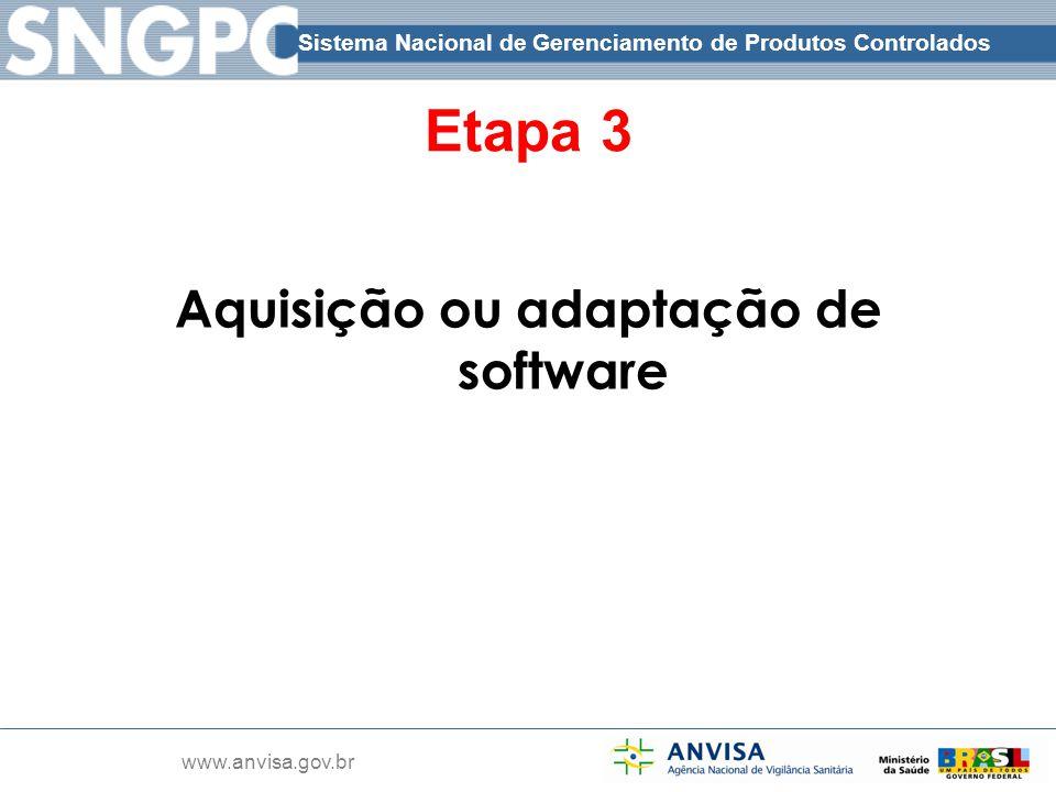 Aquisição ou adaptação de software