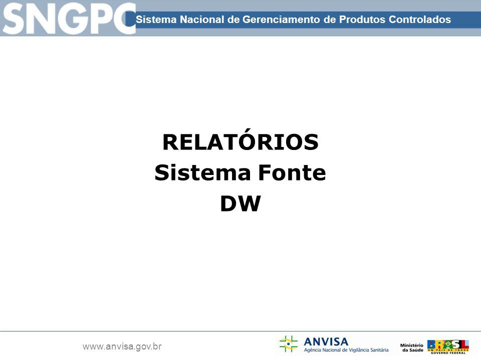RELATÓRIOS Sistema Fonte DW