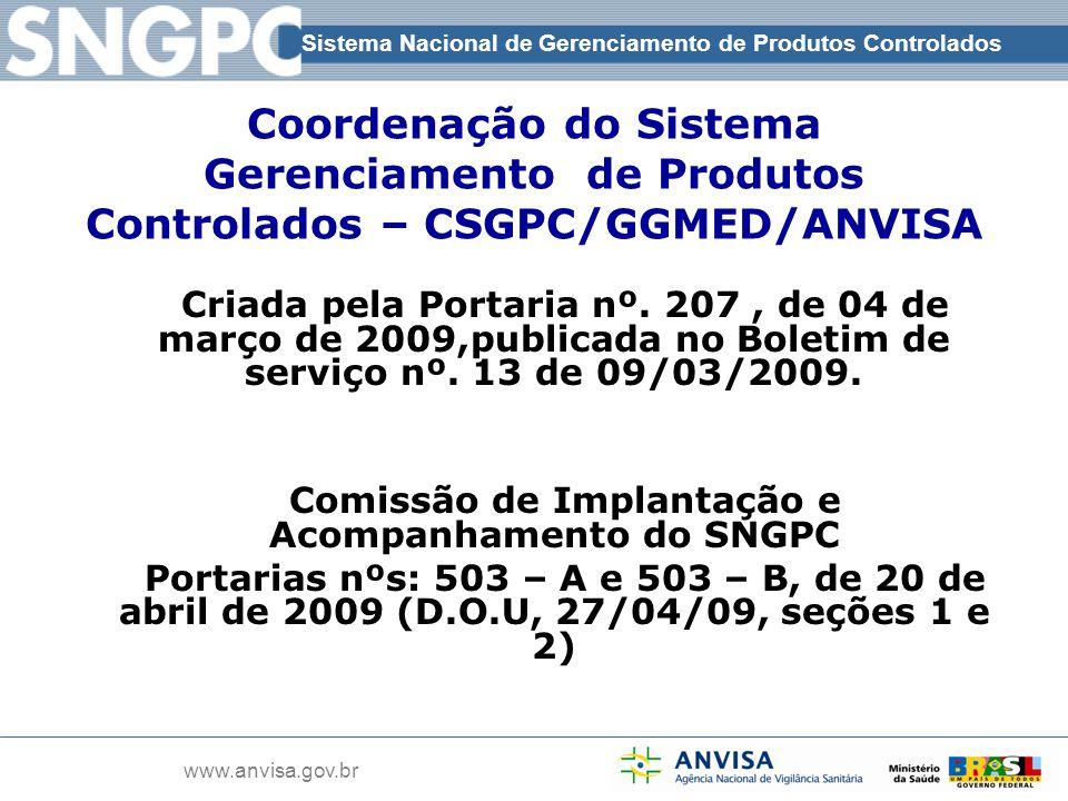 Comissão de Implantação e Acompanhamento do SNGPC