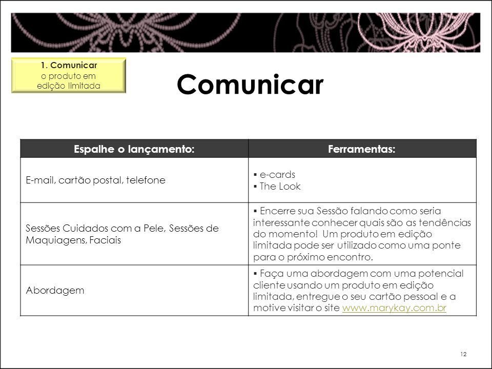 Comunicar Espalhe o lançamento: Ferramentas: e-cards