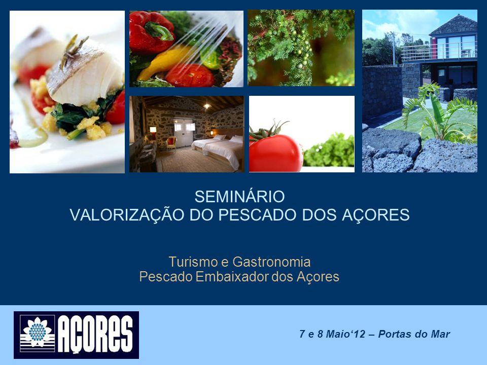 SEMINÁRIO VALORIZAÇÃO DO PESCADO DOS AÇORES Turismo e Gastronomia Pescado Embaixador dos Açores