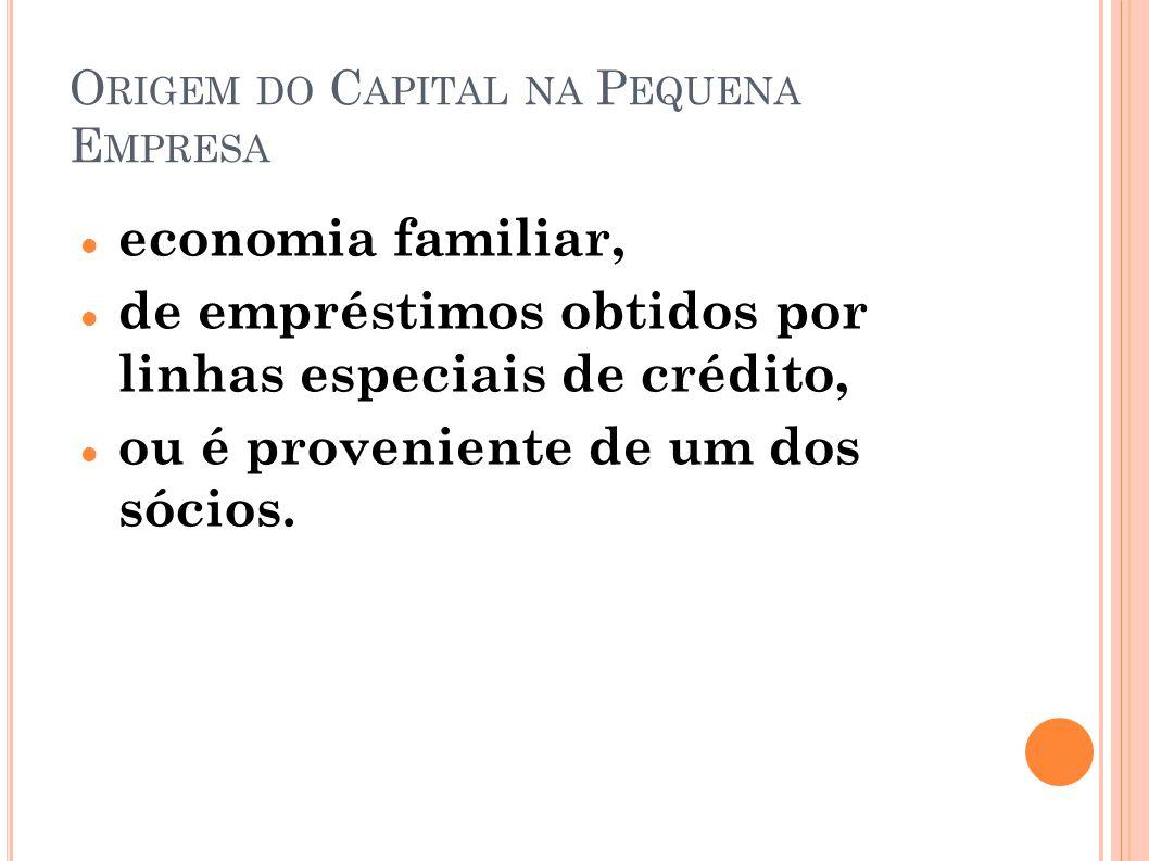 Origem do Capital na Pequena Empresa