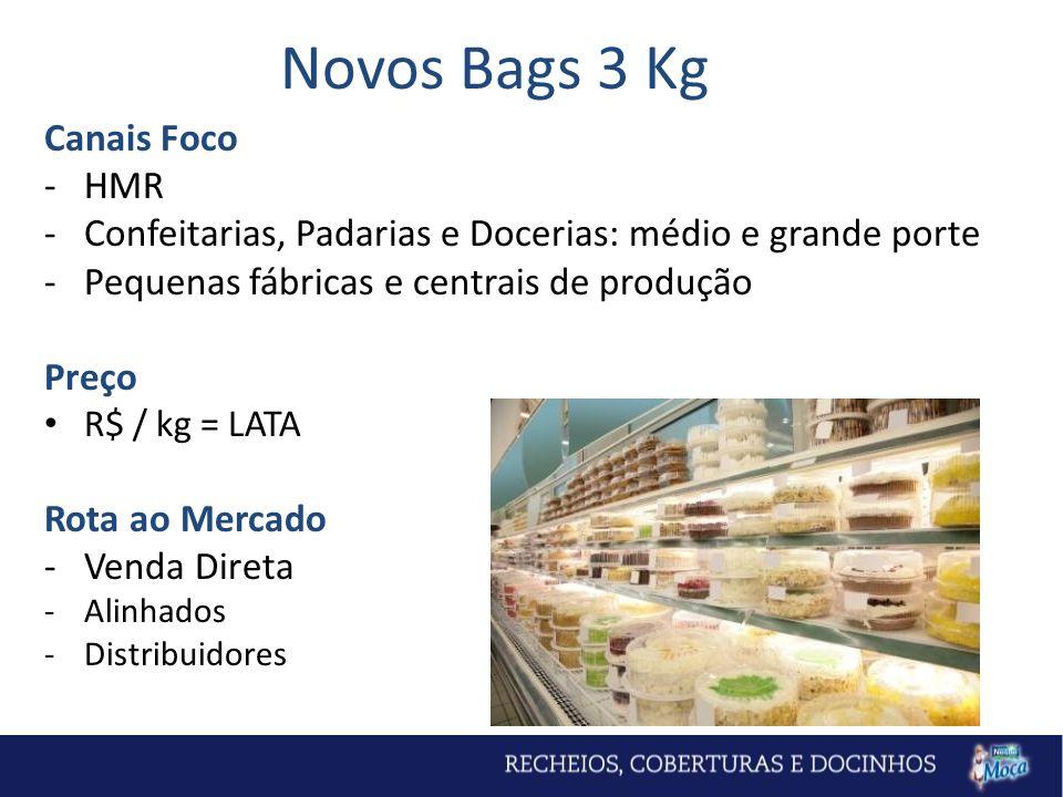 Novos Bags 3 Kg Canais Foco HMR