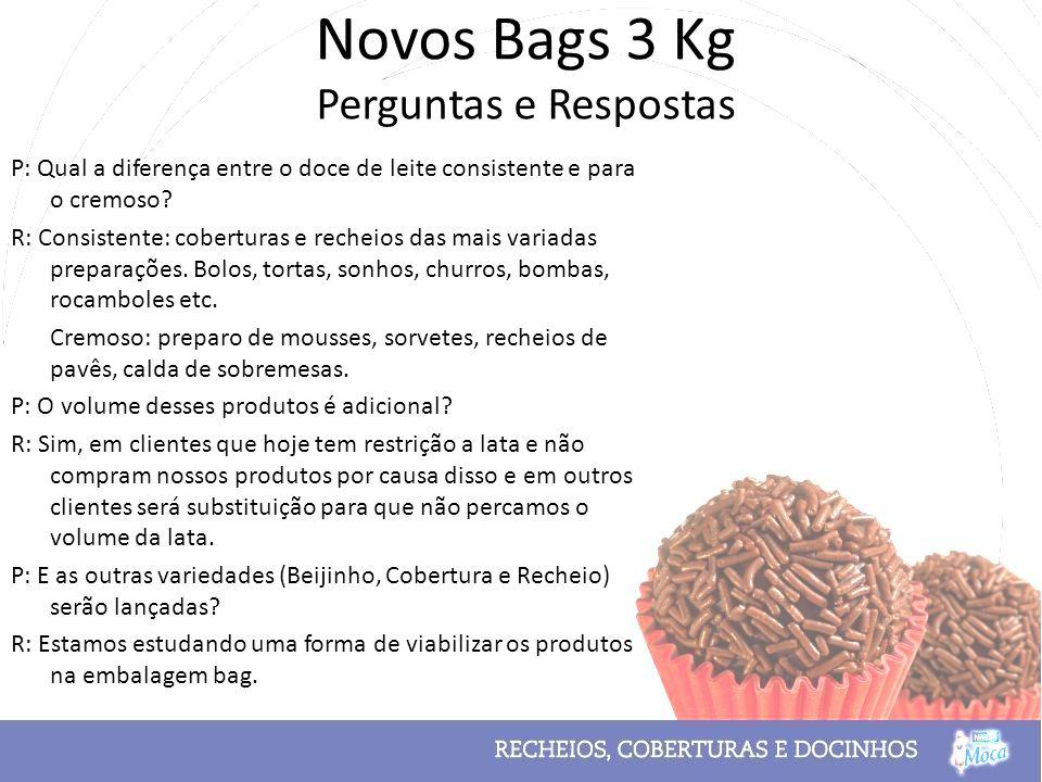 Novos Bags 3 Kg Perguntas e Respostas