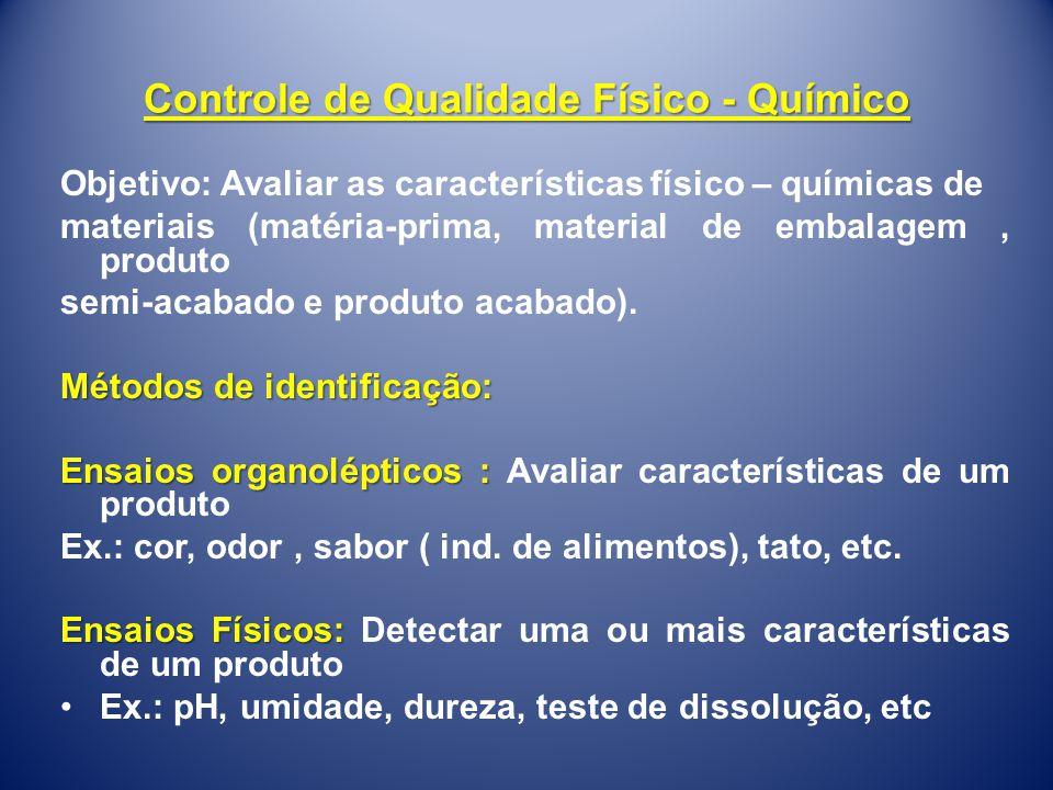 Controle de Qualidade Físico - Químico