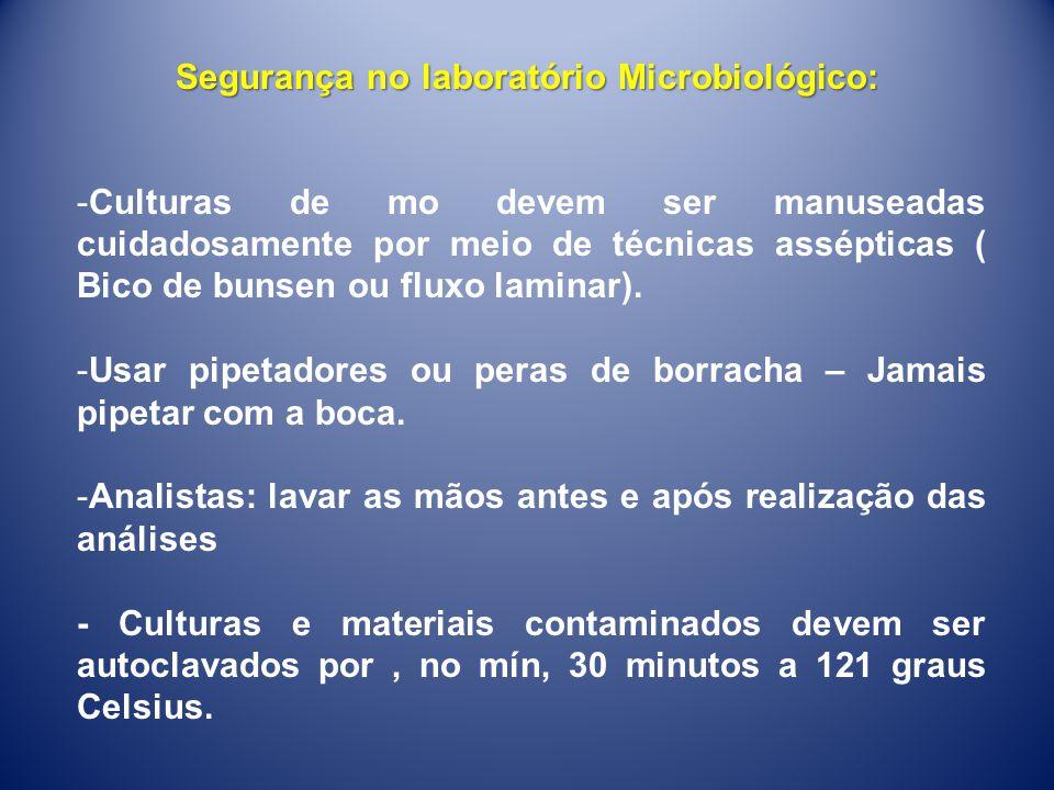 Segurança no laboratório Microbiológico: