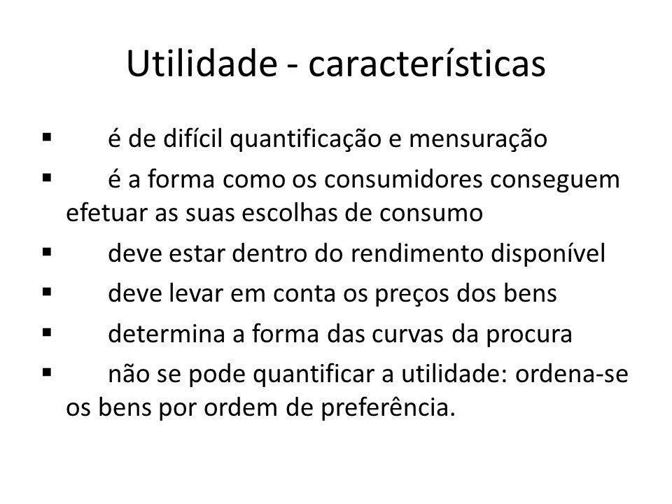 Utilidade - características