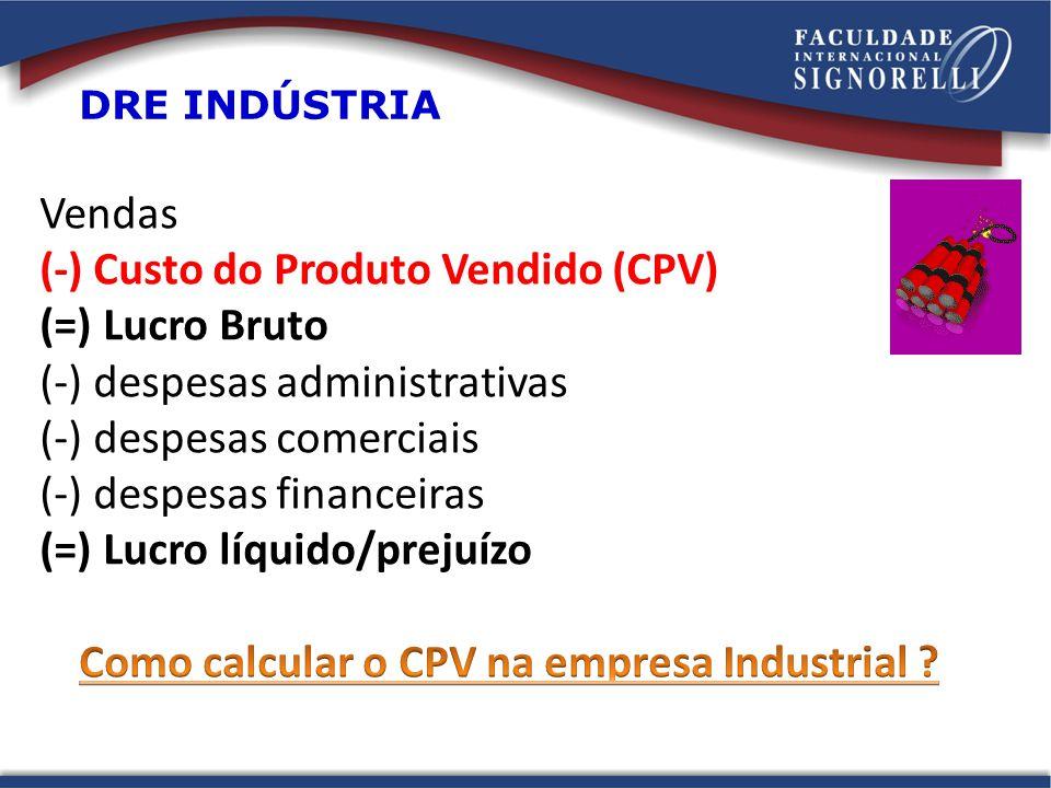 Como calcular o CPV na empresa Industrial