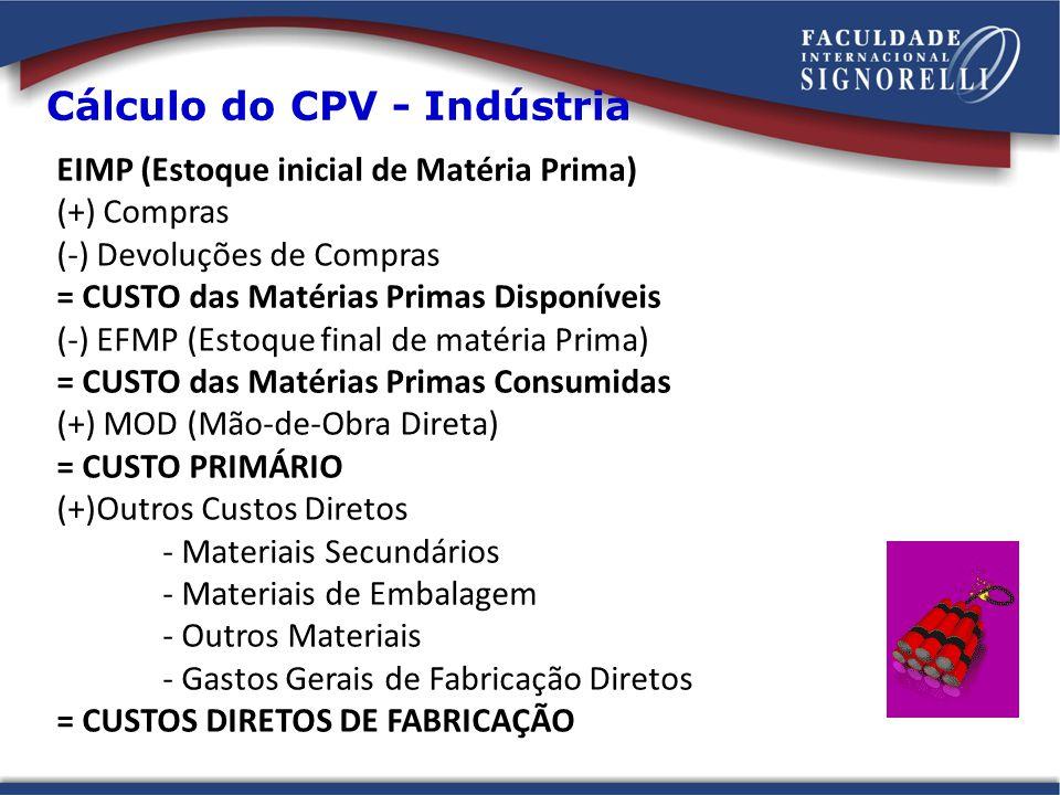 Cálculo do CPV - Indústria