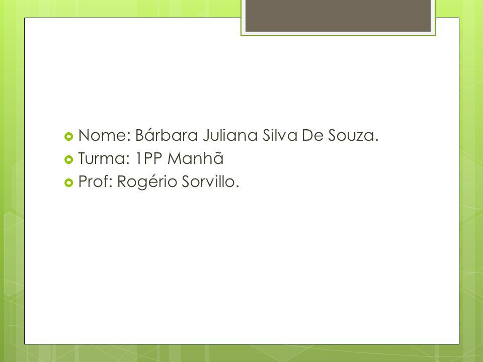 Nome: Bárbara Juliana Silva De Souza.