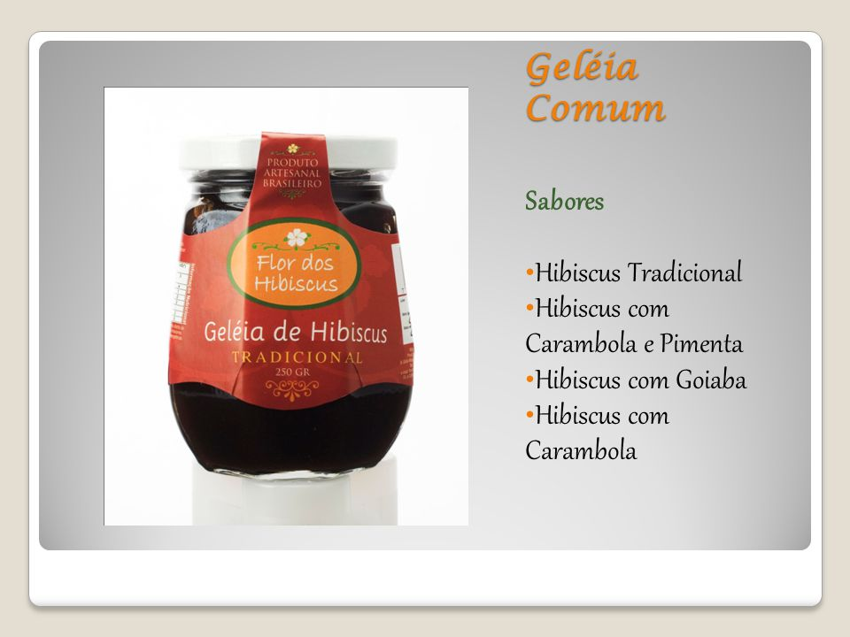 Geléia Comum Sabores Hibiscus Tradicional