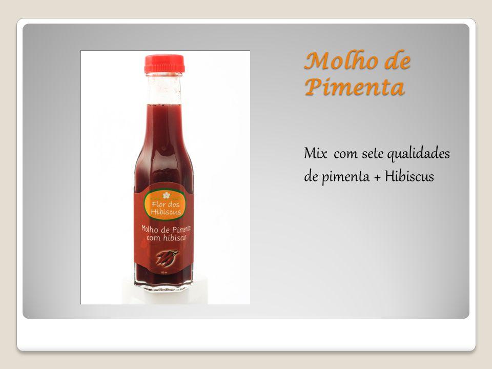 Molho de Pimenta Mix com sete qualidades de pimenta + Hibiscus