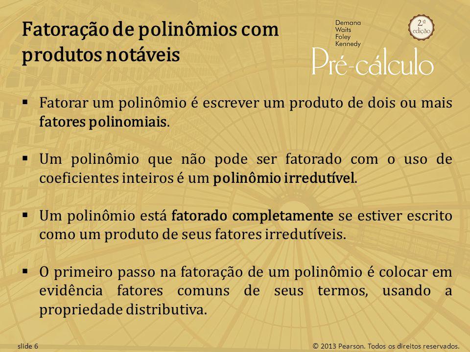 Fatoração de polinômios com produtos notáveis