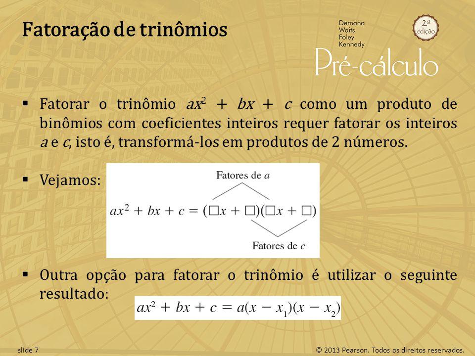 Fatoração de trinômios