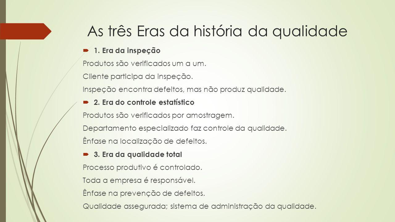 As três Eras da história da qualidade