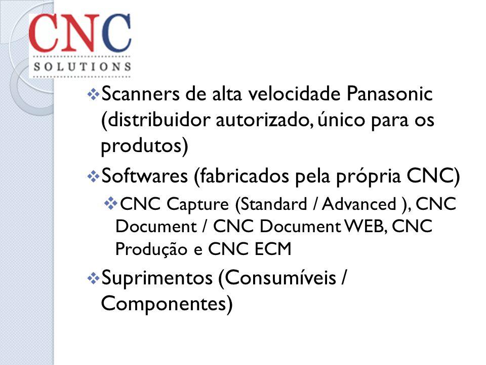 Softwares (fabricados pela própria CNC)