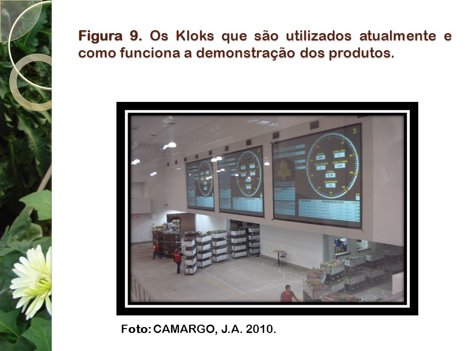 Figura 9. Os Kloks que são utilizados atualmente e como funciona a demonstração dos produtos.
