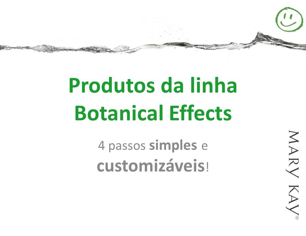 Produtos da linha Botanical Effects