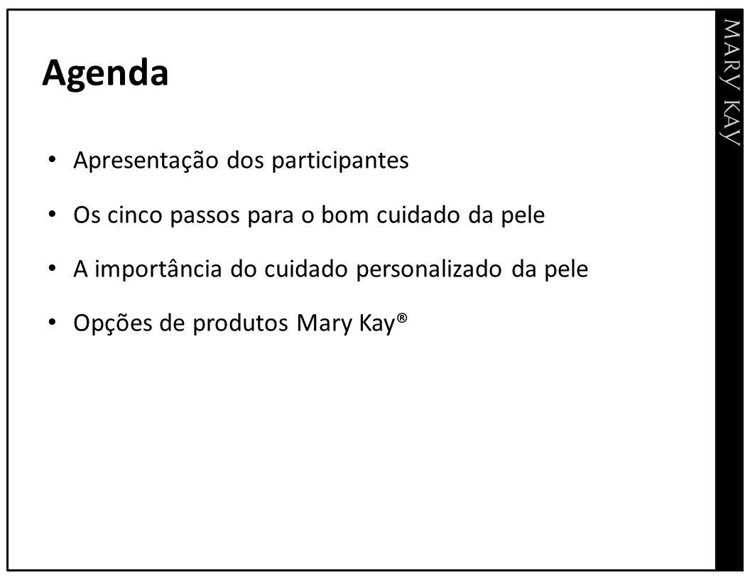 Agenda Apresentação dos participantes
