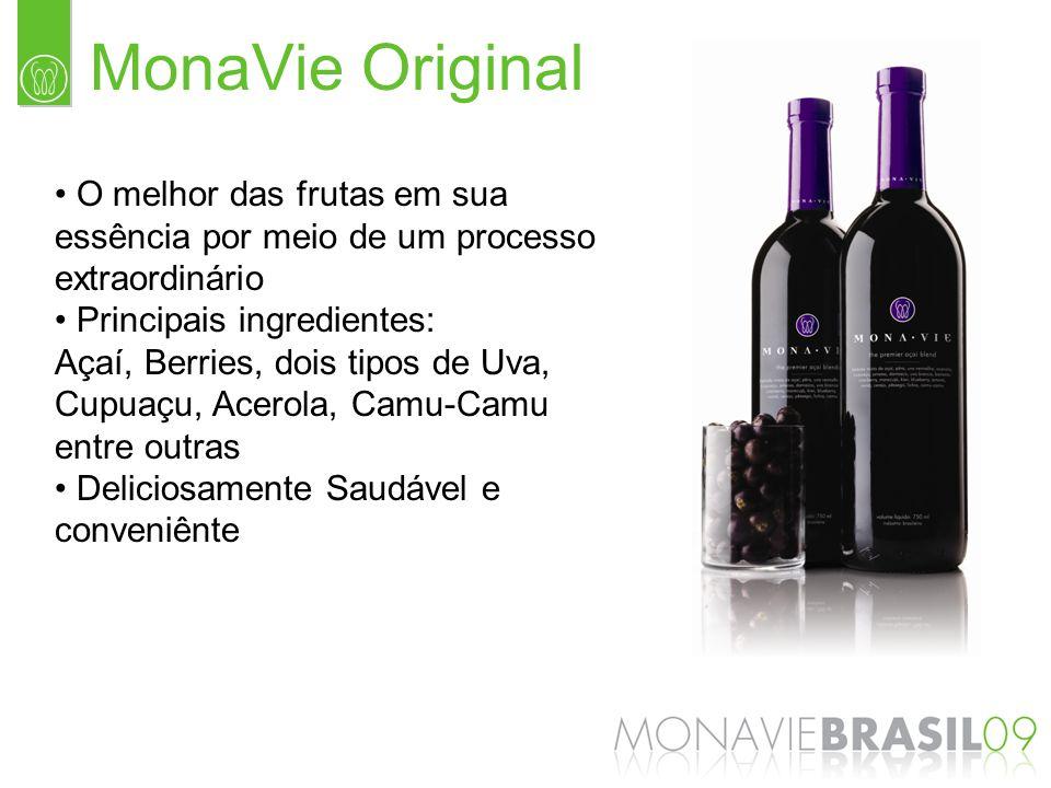 MonaVie Original O melhor das frutas em sua essência por meio de um processo extraordinário. Principais ingredientes: