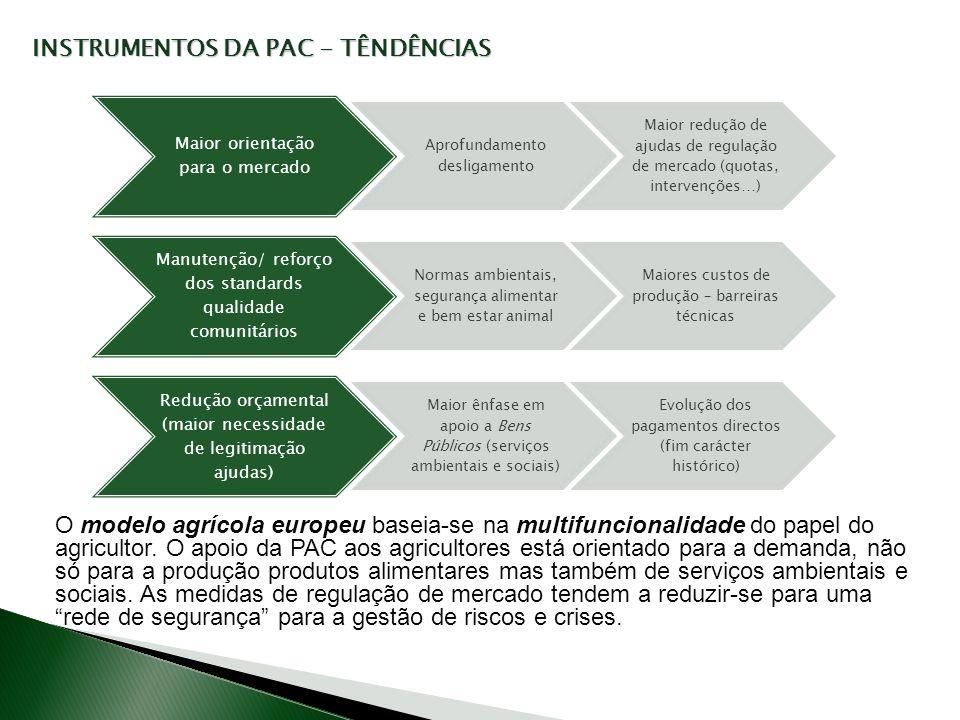 INSTRUMENTOS DA PAC - TÊNDÊNCIAS