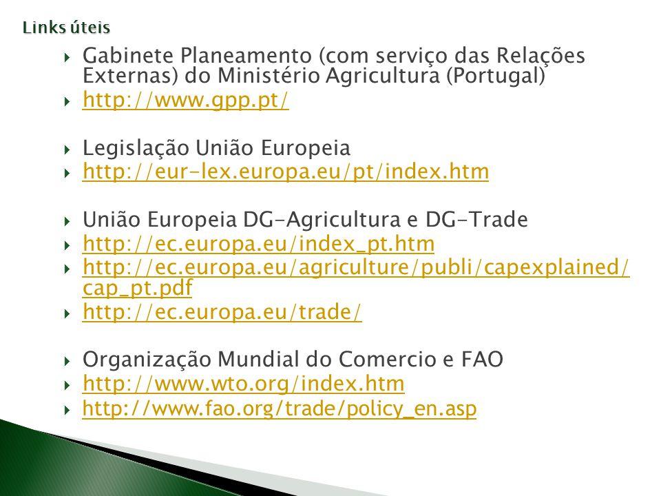 Legislação União Europeia http://eur-lex.europa.eu/pt/index.htm