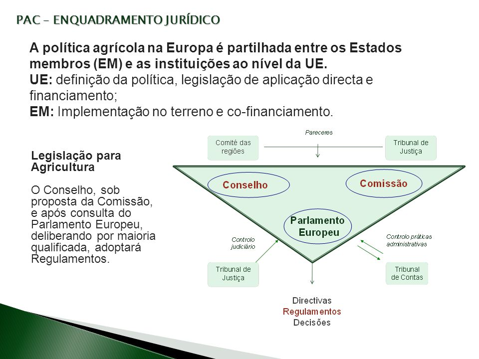 EM: Implementação no terreno e co-financiamento.