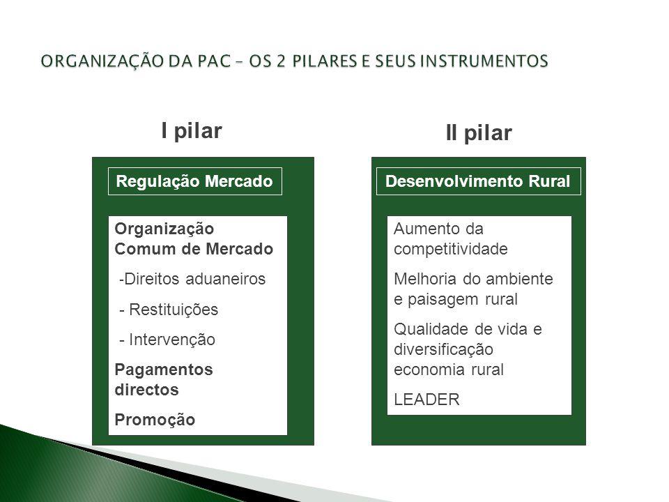 ORGANIZAÇÃO DA PAC – OS 2 PILARES E SEUS INSTRUMENTOS