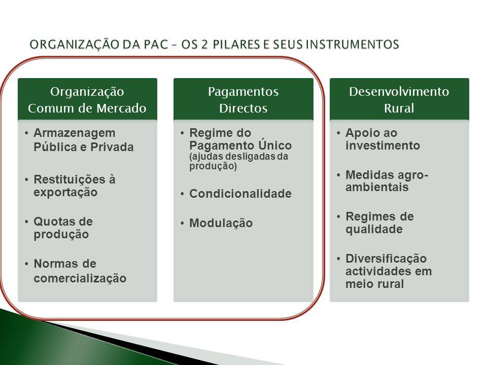 . ORGANIZAÇÃO DA PAC – OS 2 PILARES E SEUS INSTRUMENTOS