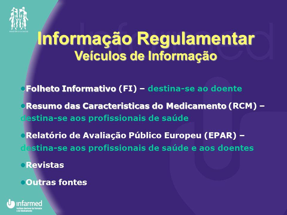 Informação Regulamentar Veículos de Informação